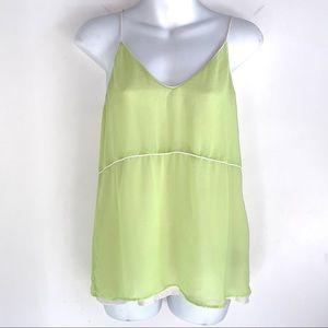 Zara Basic Lime Green Cami Top Size XS